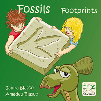 Fossils. Footprints